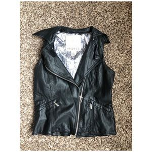 ARDEN B. Faux Leather Vest | Small